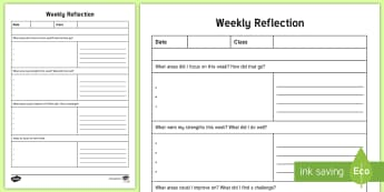 NQT Weekly Reflection Writing Template - ROI, Teaching, Template, Reflection, Teacher planning, Card,Irish