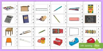 Marcheză litera corespunzătoare primului sunet: Rechizite și obiecte școlare Activitate - sunet și litera, sunete și litere, litere, litere de tipar, activități, jocuri, fonetică, Roman