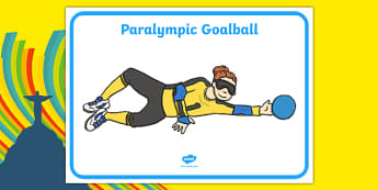 The Paralympics Goalball Display Posters - Goalball, ball, Paralympics, sports, wheelchair, visually impaired, display, banner, poster, sign, 2012, London, Olympics, events, medal, compete, Olympic Games