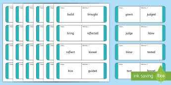 Past Tense Verbs Loop Cards - Past Tense Verbs Loop Cards - Phonics, grammar, language, literacy, verb tenses, verbs, tenses, loop