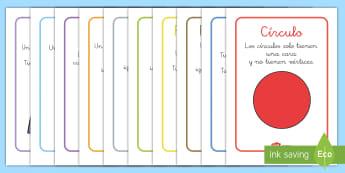 Pósters DIN A4: Figuras 2D - figuras 2D, figuras planas, formas geométricas, figuras geométricas, formas planas, formas 2D, cí