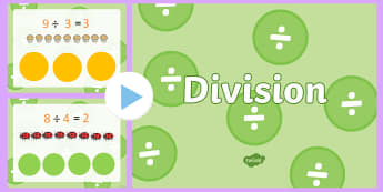 Division PowerPoint - New Zealand, maths, division, Year 3, age 7, age 8, divide, sharing, grouping, maths powerpoints