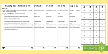 Squashy Boxes Numbers to 50 Resource Pack - Mental Maths Warm Up + Revision - Northern Ireland, squashy boxes, numbers within 50, 10, 20, 30, 40