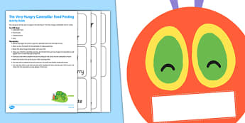 Food Posting Activity Busy Bag Resource Pack For Parents to Support Teaching on The Very Hungry Caterpillar - Busy bag, Eric Carle, Food sort