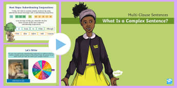 Multi-Clause Sentences KS2: What Is a Complex Sentence? PowerPoint - what is a complex sentence, complex sentence, multi-clause sentence, sentences, sentence types, subo