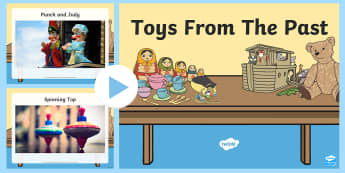 Toys From The Past Photo PowerPoint - powerpoint, power point, interactive, powerpoint presentation, toys from the past, history, old toys, old tpys powerpoint, toys from the past powerpoint, presentation, slide show, slides, discussion aid, discussi