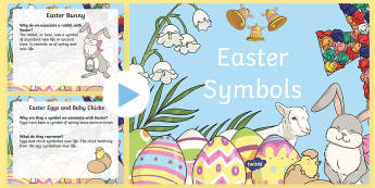 Easter Symbols PowerPoint - ROI Lent/Easter 2017,Irish, easter symbols,lambs,lilies, hot cross buns, palm branches