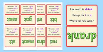 Vowel Manipulation Script Cards Medial Set 2 - vowel, cards, 2