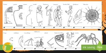 Hojas de colorear: Halloween - Dia de brujas, día de brujas, día de las brujas, halloween, colores, colorear, dibujos, dibujo, ma