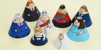 The Royal Family Cone Characters - royal, family, cone, character