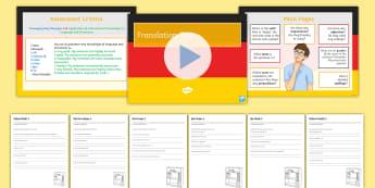 German KS3 Translation Practice Pack 3 Activity Sheets-German - Writing, Translation, Grammar Practice, KS3, Skills,German