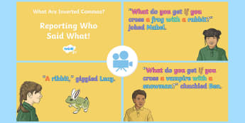 SPaG-Tastic! : Reporting Who Said What (What Are Inverted Commas?) Video - reporting clause, speech punctuation, speech marks, year 4, y4, Twinkl Go, twinkl go, TwinklGo, twinklgo