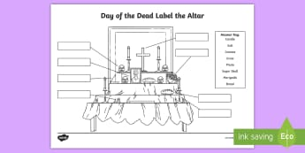 Day of the Dead Label the Altar Activity Sheet - day of the dead, dia de los muertos, activity sheet, day of the dead activity sheet, label the altar