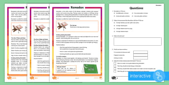KS2 Ramadan Differentiated Comprehension Go Respond  Activity Sheets - Ramadan, KS2, key stage 2, reading comprehension, differentiated reading comprehension, reading, com