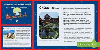 Christmas Around the World PowerPoint English/French - Christmas Around The World Powerpoint - christmas, christmas around the world, powerpoint, informati