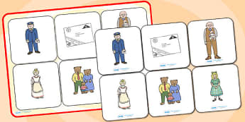 Matching Cards and Board to Support Teaching on The Jolly Postman - the jolly postman, the jolly postman matching game, the jolly post man image matching game, sen storybook game