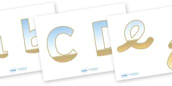Display Lettering & Symbols (Seaside) - Display lettering, seaside, sea, holiday, display letters, alphabet display, letters to cut out, letters for displays, coloured letters, coloured display, coloured alphabet