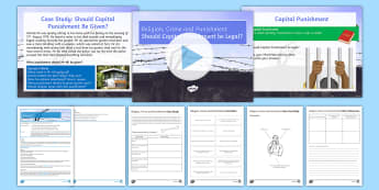 Capital Punishment Lesson Pack - key stage 3 religion and crime and punishmentcapital punishment, death row, death, sanctity of life,