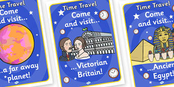 Time Machine Destination Role Play Posters - time machine, destination, role play, posters, time machine destination, time machine role play