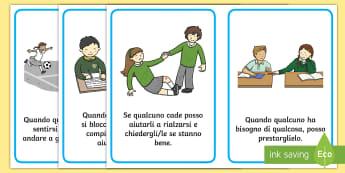 Come essere un buoin amico Poster - buon, amico, amichevole, regole, della, classe, italiano, italian, compagni, materiale, scolastico,