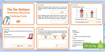 Developing Reasoning Through the Six Nations 2017 Challenge Cards - Reasoning, Maths, Six Nations, sin nations, Six Nations Rugby, Wales, numeracy, maths. ,Welsh