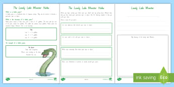 Year 3 and 4 Chapter Chat Week 3 Haiku Writing Activity to Support Teaching on the Lonely Lake Monster by Suzanne Selfors - suzanne selfors, the lonely lake monster, reading, chapter chat, literacy, year 3 & 4