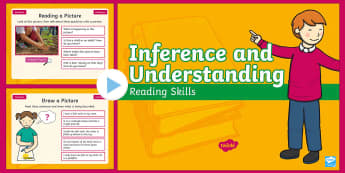 Year 2 Spring Term Inference and Understanding Reading Skills PowerPoint - deduce, picture, infer, filler, starter, comprehension