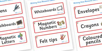 Koala Themed Editable Writing Area Resource Labels - Themed writing resource labels, literacy area labels, writing area resources, Label template, Resource Label, Name Labels, Editable Labels, Drawer Labels, KS1 Labels, Foundation Labels, Foundation