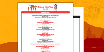 Chinese New Year Book List - chinese new year, book list, book, list, fiction, non-fiction