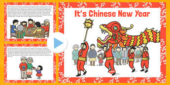 Its Chinese New Year Story PowerPoint - EYFS, KS1, Early Years, festival, celebration, Understanding the World, Literacy