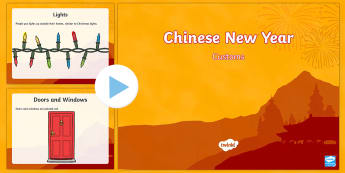 Chinese New Year Customs PowerPoint - Chinese New Year, KS1, KS2, EYFS, Celebration, festivals, rooster