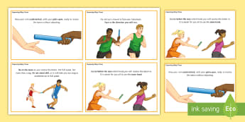 Athletics: Improving Relay Times Cards - athletics, running, jumping, throwing, olympics