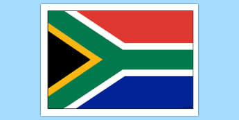 South Africa Flag Display Bunting - countries, geography, display