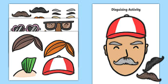 Police Officers' Disguises Activity - Police Station Role Play, police, policeman, police station resources, policewoman, police car, police van, handcuffs, criminal, people who help us, role play, display, poster, disguise