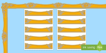 Gold and Silver Display Borders - photo, page, border, picture, pageborders, boardered paper, page baorders, psge borders