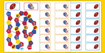 NFL Themed Editable Board Game - usa, nfl, national football league, american football, editable, board game