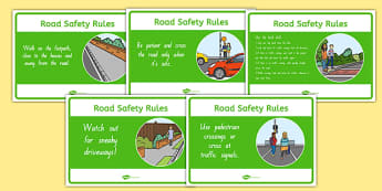 New Zealand Road Safety Rules Display Posters