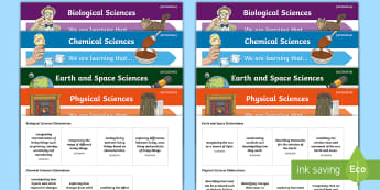 Science Curriculum Year 3 Objectives Editable Display Posters - Australian Curriculum, WALT, Science assessment, science Australia, TIB, grade 3,Australia