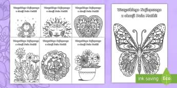 Kartki Dzień Matki Kolorowanka antystresowa - dzień, matka, mama, mamusia, wydarzenia,święta, maj, majowe, 26, maja, wiosna, dni, kwiaty, kartk