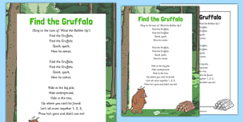 Find The Gruffalo Song to Support Teaching on The Gruffalo - Julia Donalson, Axel Scheffler, The Gruffalo, The Gruffalo's Child
