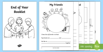 End of School Year Booklet - last day, july, transition, new class, Summer, Holidays, June, Activity