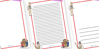 1950s Page Borders - 1950s, page border, border, writing template, writing aid, writing, 50s, coronation of Queen Elizabeth II, barbie doll, first