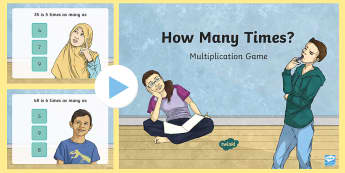 How Many Times? Multiplication Game - times as many, multiplication, division, game, common core, fourth grade, Algebraic thinking