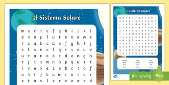 Il Sistema Solare Parole Intrecciate - parole, intrecciate, trova, la, parola, sistema, solare, spazio, pianeti, satelliti,s cineze, astron
