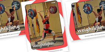The Olympics Weightlifting Display Photo - weightlifting, lifting, weights, Olympics, Olympic Games, sports, Olympic, London, 2012, display, photo, photos, poster, activity, Olympic torch, medal, Olympic Rings, mascots, flame, compete, events, tennis