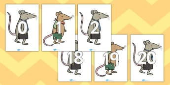 0 20 on The Town Mouse and the Country Mouse - counting aid