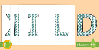 Imágenes de exposición: Los números romanos - numeración romana, exponer, decoración, mates, matemáticas, historia,Spanish
