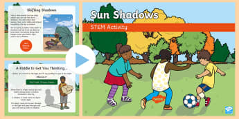 Sun Shadows STEM PowerPoint - Make it twinkle!, STEM, Light, Energy, Forces, Experiment, KS1, KS2, Science