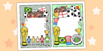 Football World Cup Themed Editable Notes to Teacher - football