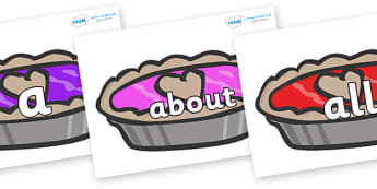100 High Frequency Words on Jam Tarts - High frequency words, hfw, DfES Letters and Sounds, Letters and Sounds, display words